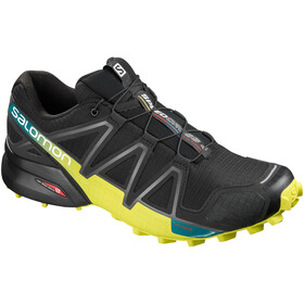 Salomon Speedcross 4 Shoes Herre black/sulphur spring